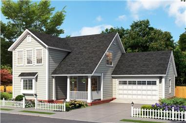 3-Bedroom, 1878 Sq Ft Traditional House - Plan #178-1388 - Front Exterior