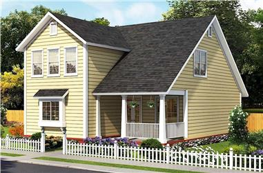 3-Bedroom, 1878 Sq Ft Cottage Home - Plan #178-1389 - Main Exterior