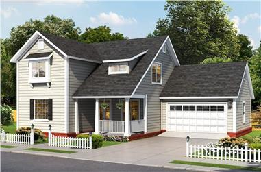4-Bedroom, 2137 Sq Ft Farmhouse House - Plan #178-1390 - Front Exterior