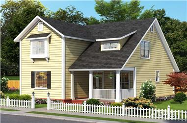 4-Bedroom, 2137 Sq Ft Cottage House - Plan #178-1391 - Front Exterior