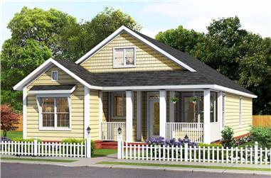 3-Bedroom, 1558 Sq Ft Cottage Home - Plan #178-1393 - Main Exterior