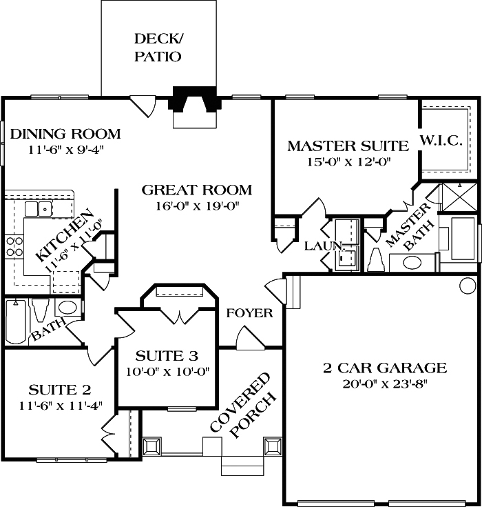 3 bdrm bungalow craftsman house plan 180 1000 1387 for 1000 sq ft house plans first floor