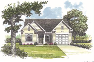 Front elevation of Traditional home (ThePlanCollection: House Plan #180-1001)