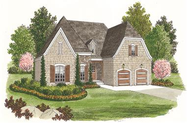 3-Bedroom, 1400 Sq Ft Cottage House Plan - 180-1002 - Front Exterior