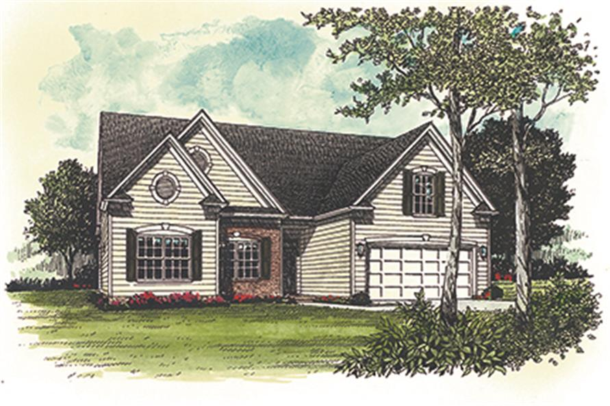 Home Plan Rendering of this 3-Bedroom,1458 Sq Ft Plan -1458