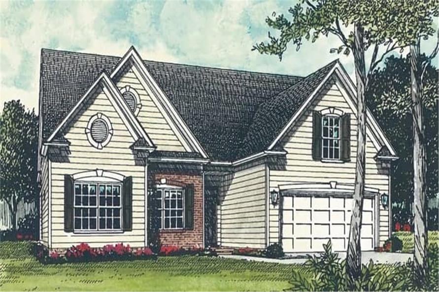 Front View of this 3-Bedroom,1458 Sq Ft Plan -180-1003