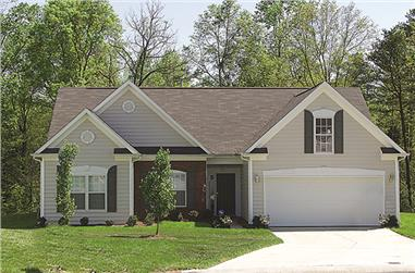 Front elevation of Traditional home (ThePlanCollection: House Plan #180-1003)