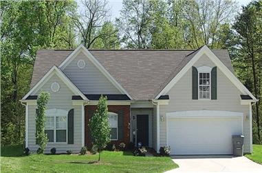 3-Bedroom, 1458 Sq Ft Traditional House Plan - 180-1003 - Front Exterior