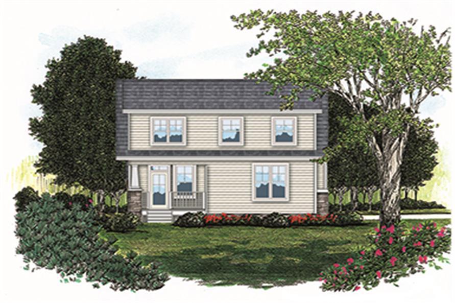 180-1007: Home Plan Rendering