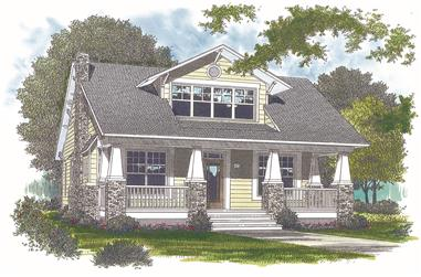 3-Bedroom, 2010 Sq Ft Bungalow House Plan - 180-1007 - Front Exterior