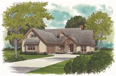 3-Bedroom, 2093 Sq Ft Craftsman House Plan - 180-1008 - Front Exterior