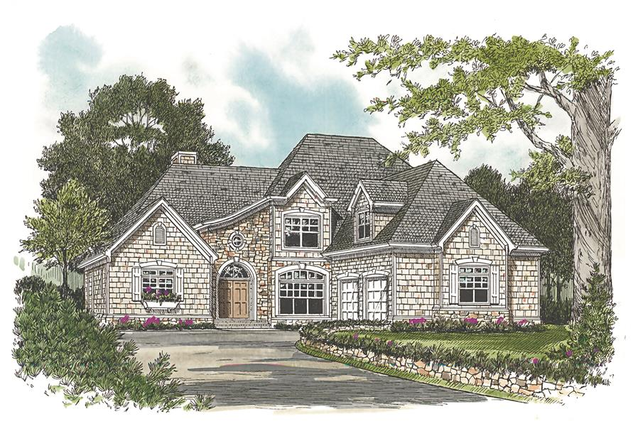 Front Door of this 3-Bedroom,2443 Sq Ft Plan -2443