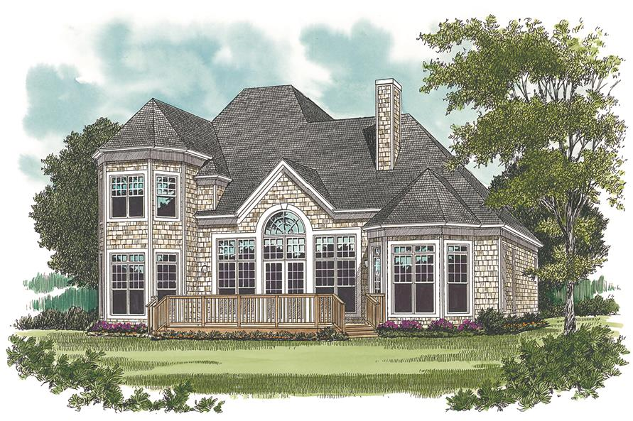 Home Plan Rendering of this 3-Bedroom,2443 Sq Ft Plan -2443