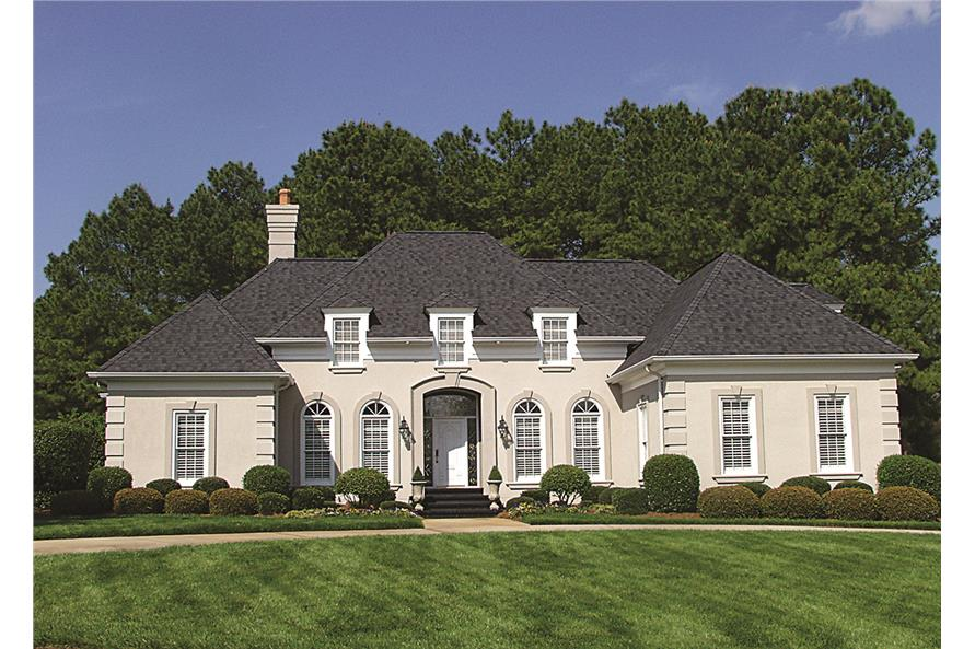 Photo of this European style home (ThePlanCollection: House Plan #180-1010)