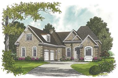 3-Bedroom, 2700 Sq Ft Ranch Home Plan - 180-1011 - Main Exterior