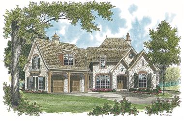4-Bedroom, 4731 Sq Ft European House Plan - 180-1013 - Front Exterior