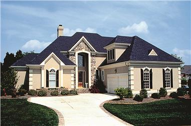4-Bedroom, 3055 Sq Ft Traditional House Plan - 180-1014 - Front Exterior
