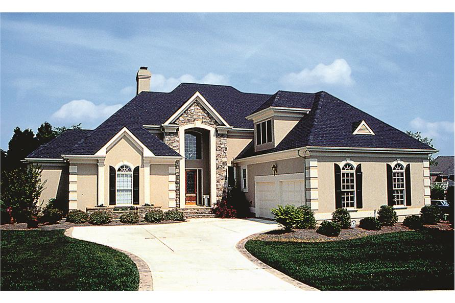 Front elevation of Traditional home (ThePlanCollection: House Plan #180-1014)