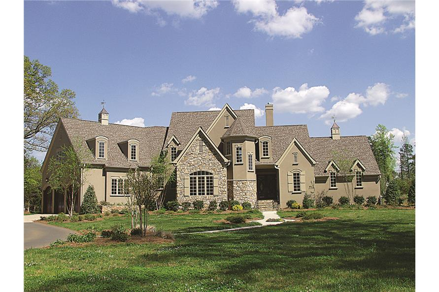 3-Bedroom, 3462 Sq Ft French House Plan - 180-1015 - Front Exterior