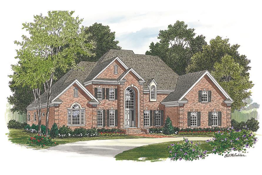 180-1016: Home Plan Rendering-Front Door