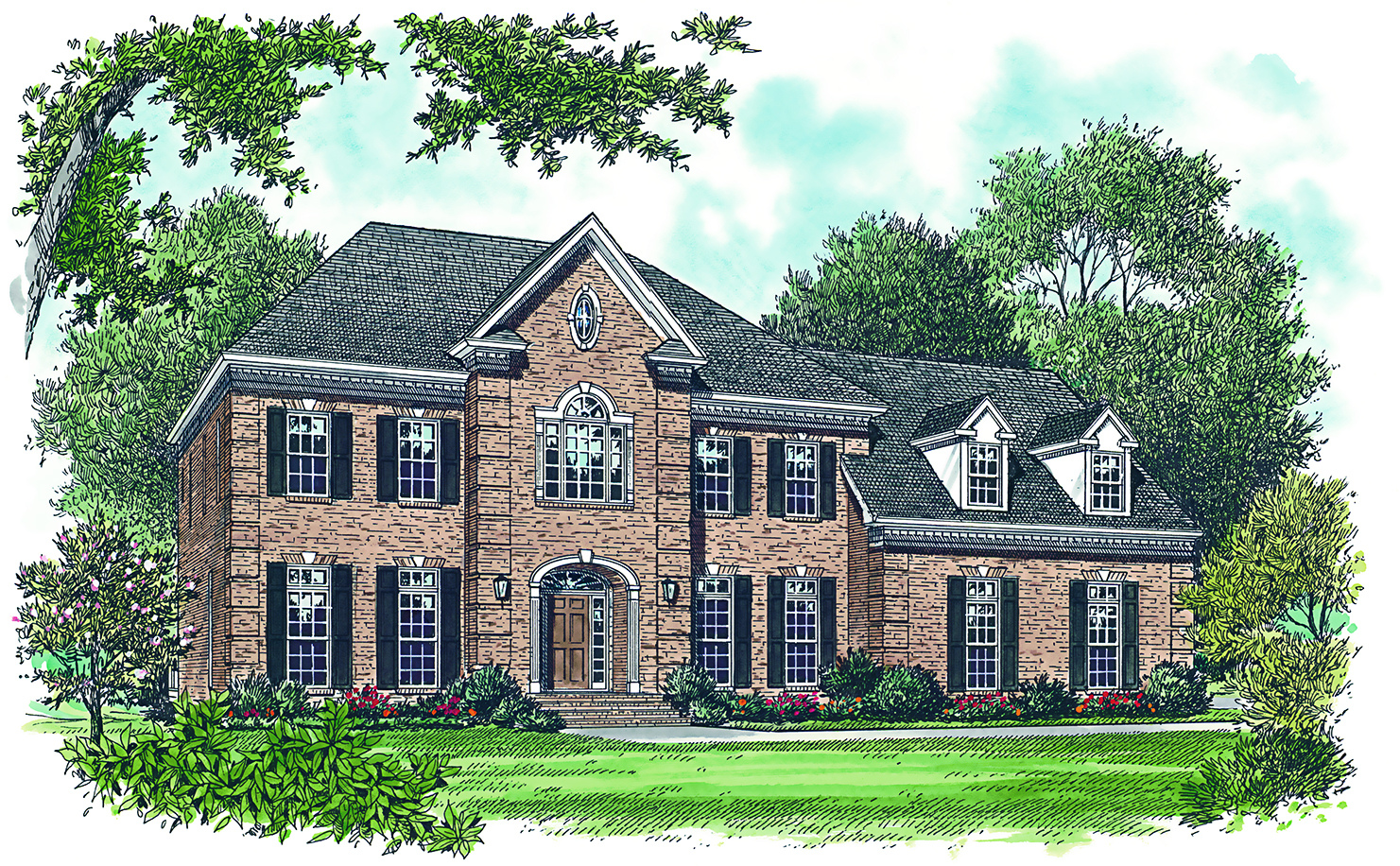 3256 Sq Ft Georgian House Plan 180 1017 4 Bedrm Home Theplancollection
