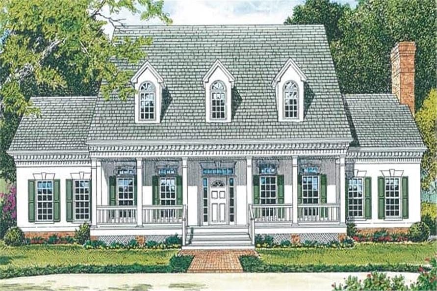 Front View of this 4-Bedroom,3338 Sq Ft Plan -180-1018