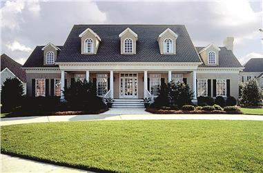 4-Bedroom, 3338 Sq Ft Southern Home Plan - 180-1018 - Main Exterior