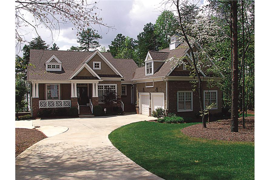 4-Bedroom, 3546 Sq Ft Cottage Home Plan - 180-1019 - Main Exterior