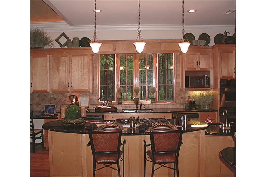 180-1020: Home Interior Photograph-Kitchen - kitchen island and eating bar