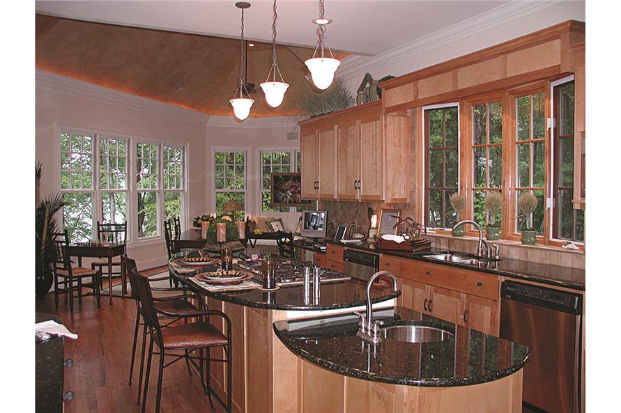 180-1020: Home Interior Photograph-Kitchen - alternate view toward breakfast nook and sun room