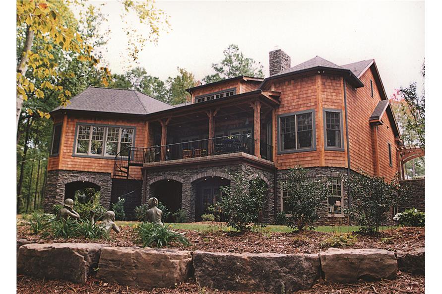 180-1020: Home Exterior Photograph-Rear View 1