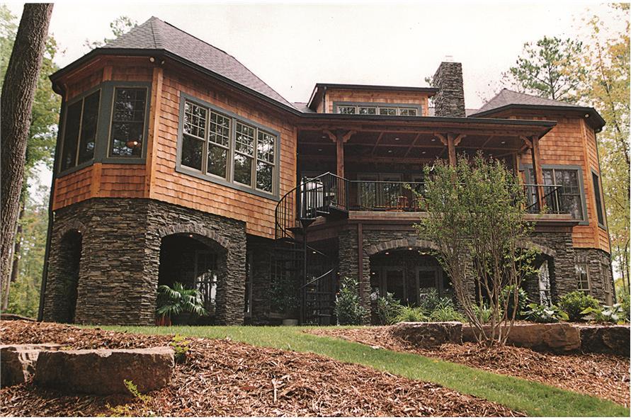 180-1020: Home Exterior Photograph-Rear View 2
