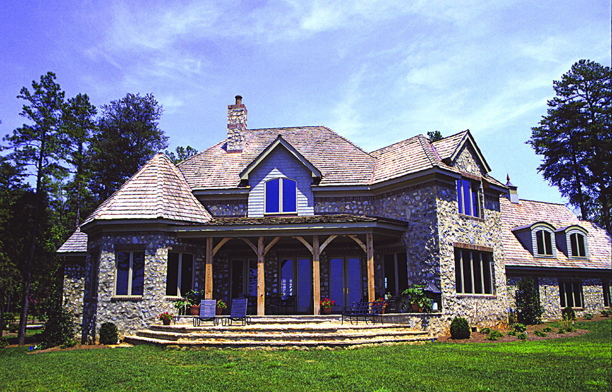 French Country Manor Plan Bedrm Home