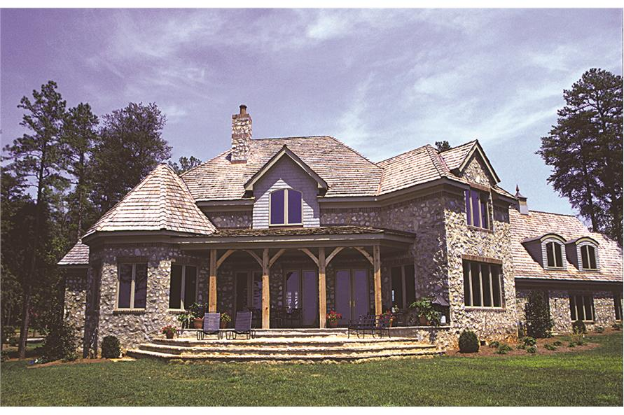 180-1021: Home Exterior Photograph-Rear View
