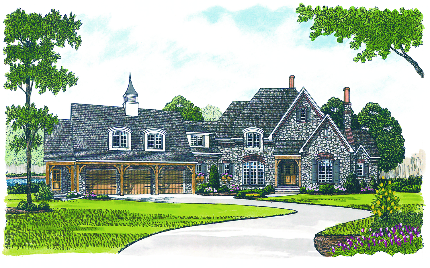 3660 sq ft french country manor plan 180 1021 3 bedrm home for French manor house