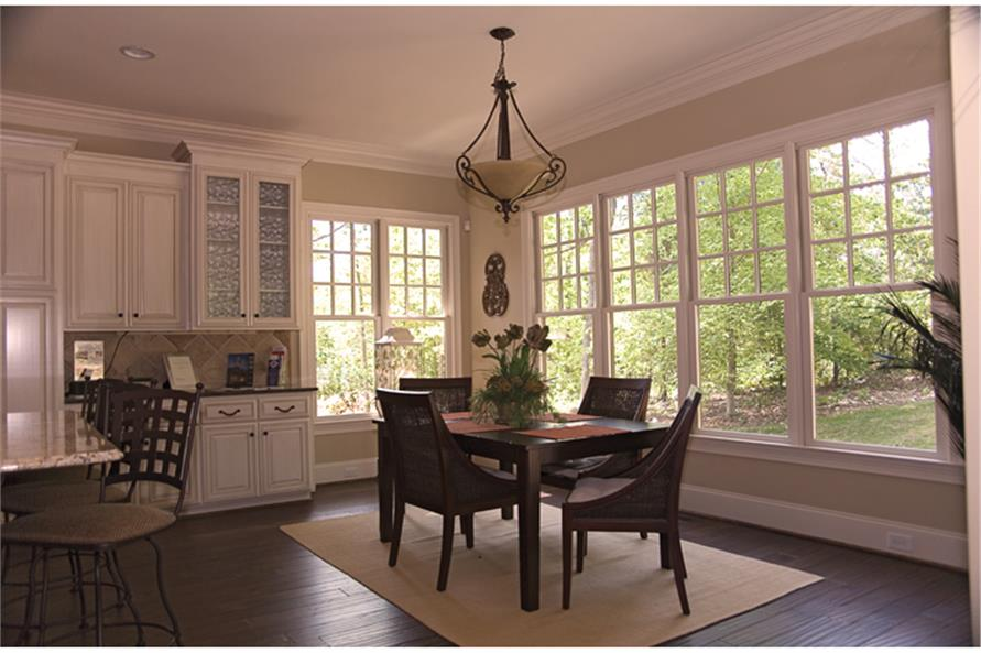 180-1022: Home Interior Photograph-Kitchen: Breakfast Nook