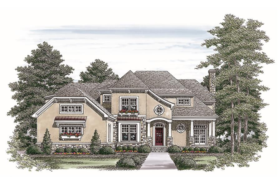 180-1022: Home Plan Front Elevation