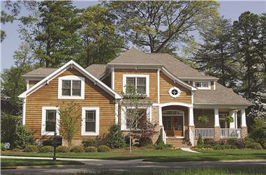 Front photo of Cottage home (ThePlanCollection: House Plan #180-1022)