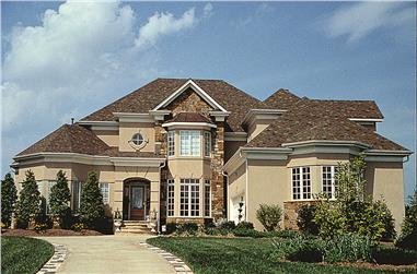 Photo of this contemporary luxury home with European influences (ThePlanCollection: House Plan #180-1023)
