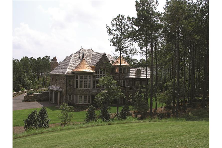 180-1025: Home Exterior Photograph-Rear View - Far
