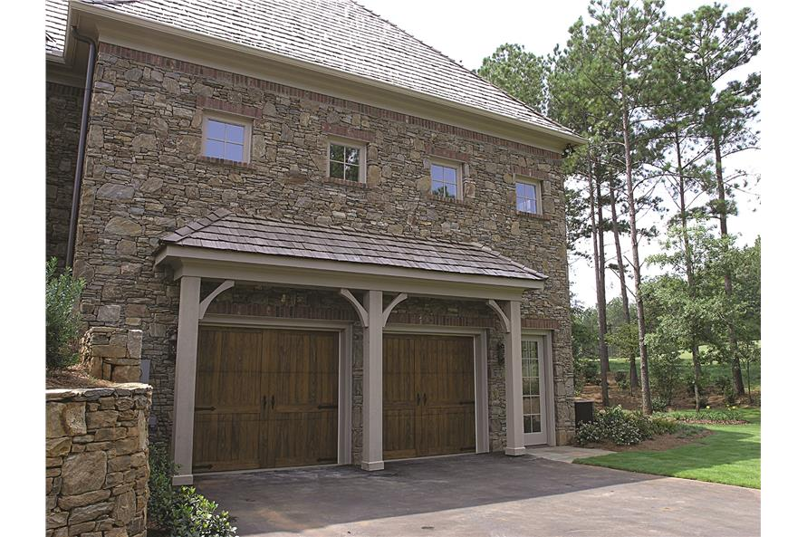 180-1025: Home Exterior Photograph- Lower Garage
