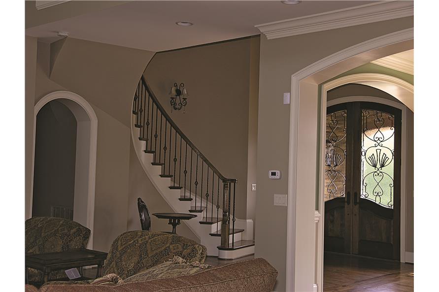 180-1025: Home Interior Photograph-Entry Hall: Staircase