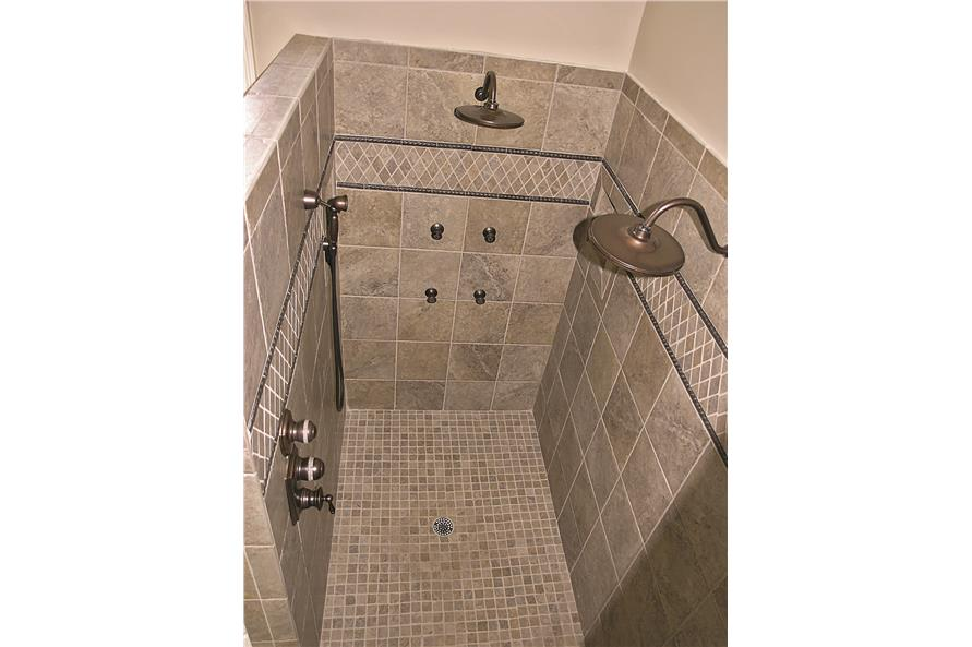 180-1025: Home Interior Photograph-Master Bathroom - Master Shower.