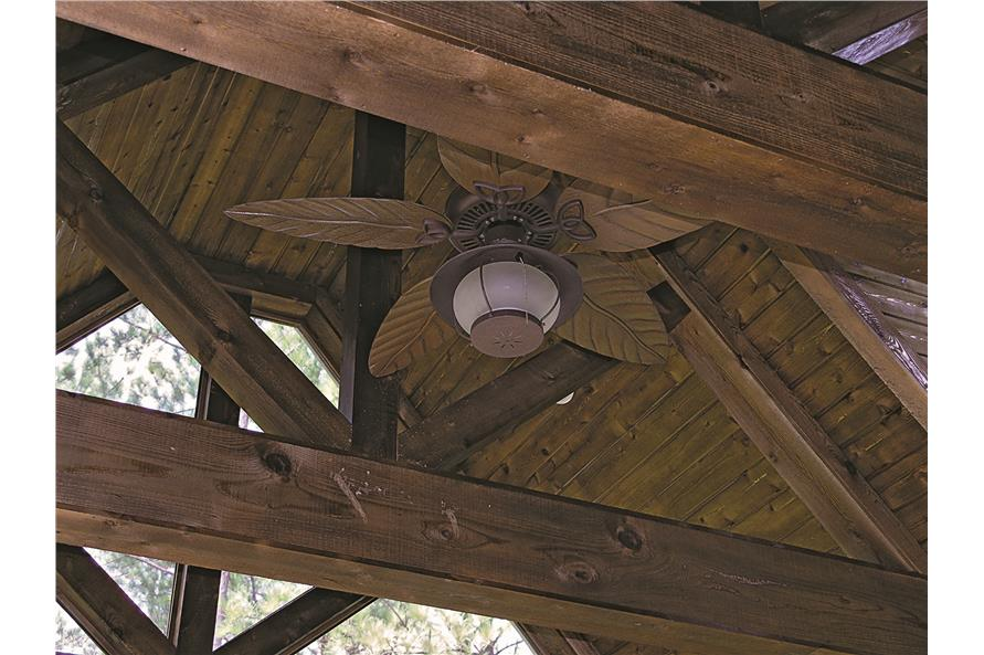 180-1025: Home Interior Photograph - Screened-in Room / Screened-in Porch - Ceiling Detail