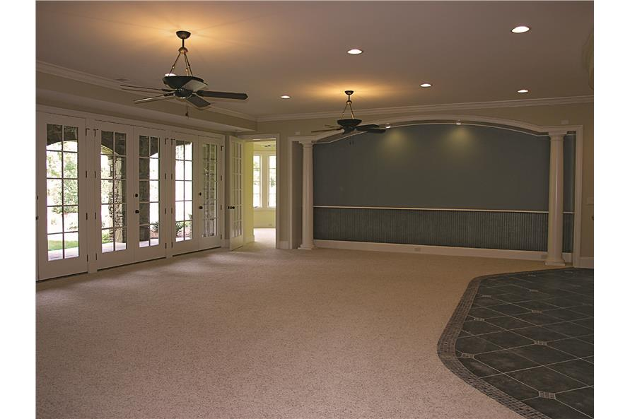 180-1025: Home Interior Photograph-Media Room - Recreation Room