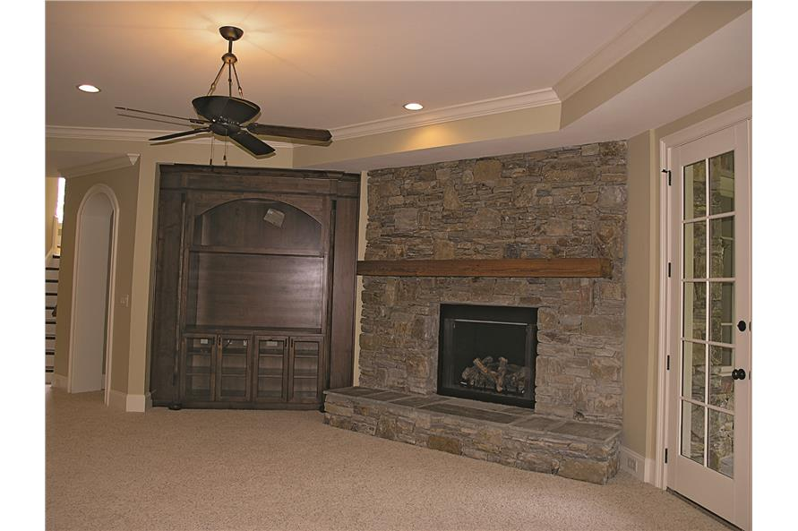 180-1025: Home Interior Photograph-Media Room - Fireplace