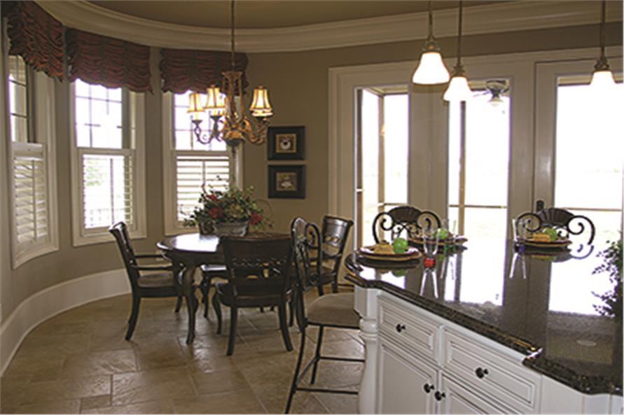 180-1026: Home Interior Photograph-Kitchen: Breakfast Nook