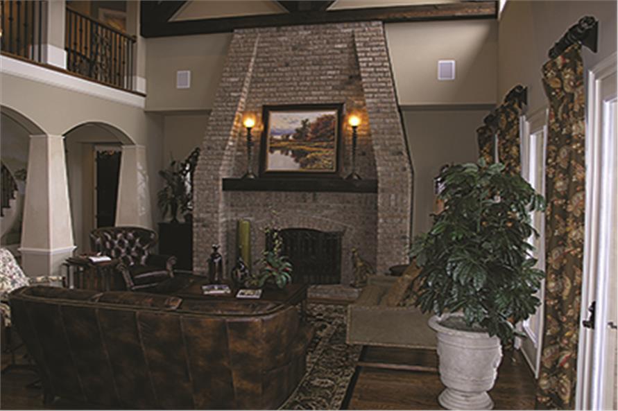 180-1026: Home Interior Photograph-Hearth Room