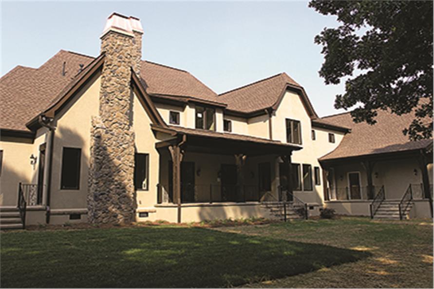 180-1029: Home Exterior Photograph-Rear View