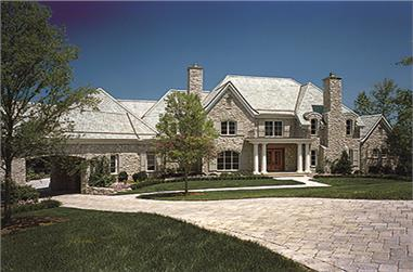 5-Bedroom, 8930 Sq Ft European House Plan - 180-1031 - Front Exterior